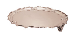 Round Sterling Silver Salver / Tray By A. Stephen From Calcutta, India