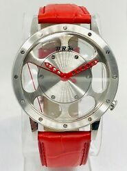 B.r.m. Stainless Steel Automatic Skeleton Watch Wl4401r On Strap