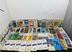 Vintage Lot Of 72 Aaa Road Maps Old Gas Oil Advertising - Gulf Marathon Mobil