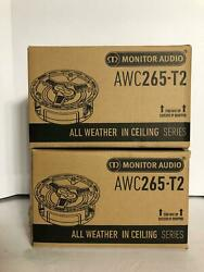 Brand New Monitor Audio Awc265-t2 All-weather Stereo-input In-ceiling X 2 Units