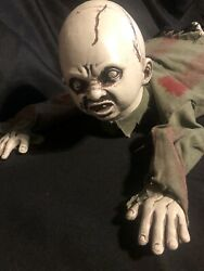 Crawling Zombie Baby Prop Used Condition
