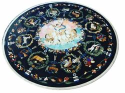 42 Marble Dining Table Top Inlay Rare Semi Round Center Coffee Table Ar0673