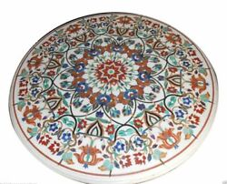 48 Marble Dining Table Top Inlay Rare Semi Round Center Coffee Table Ar0692
