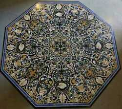 48 Marble Dining Table Top Inlay Rare Semi Antique Center Coffee Table Ar0698