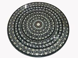 48 Marble Dining Table Top Inlay Rare Semi Round Center Coffee Table Ar0705