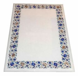 52 Marble Dining Table Top Inlay Rare Semi Antique Center Coffee Table Ar0735