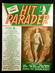 Hit Parade Magazine Sep 1944 Janie, Step Lively, Bathing Beauty, Merry Monahans