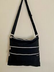 Baggalini Black Crossbody Purse Nylon Shoulder Travel Bag Medium $15.00