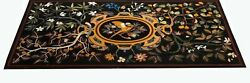 54 Marble Dining Table Top Inlay Rare Semi Antique Center Coffee Table Ar0748