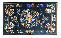 54 Marble Dining Table Top Inlay Rare Semi Antique Center Coffee Table Ar0752