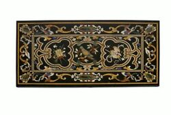 54 Marble Dining Table Top Inlay Rare Semi Antique Center Coffee Table Ar0760