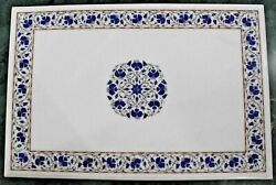 54 Marble Dining Table Top Inlay Rare Semi Antique Center Coffee Table Ar0765