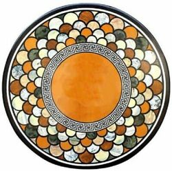 36 Marble Dining Table Top Inlay Rare Semi Round Center Coffee Table Ar0787