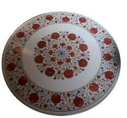 36 Marble Dining Table Top Inlay Rare Semi Round Center Coffee Table Ar0795