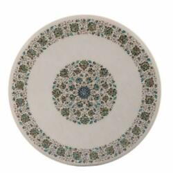 36 Marble Dining Table Top Inlay Rare Semi Round Center Coffee Table Ar0796