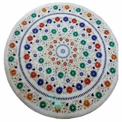 36 Marble Dining Table Top Inlay Rare Semi Round Center Coffee Table Ar0797