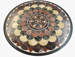 36 Marble Dining Table Top Inlay Rare Semi Round Center Coffee Table Ar0810