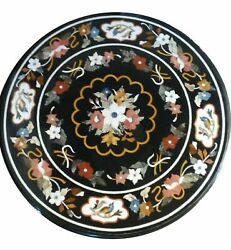 36 Marble Dining Table Top Inlay Rare Semi Round Center Coffee Table Ar0815