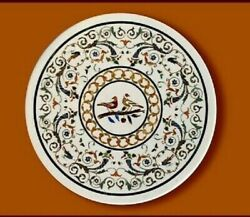 36 Marble Dining Table Top Inlay Rare Semi Round Center Coffee Table Ar0822