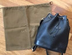 Authentic GUCCI vintage black bucket bag with original dust cover $295.00