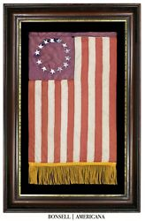 Handmade 13 Star Flag With A Betsy Ross Pattern | Circa 1953-1976