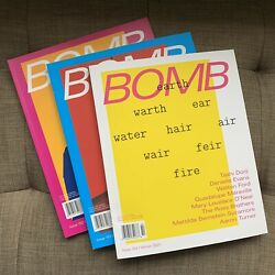 Bomb Magazine Issues 154 Winter 21, 153 Fall 20, And 152 Summer 20