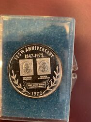 Sterling Silver First United States Postage Stamps 125th Anniversary Medal