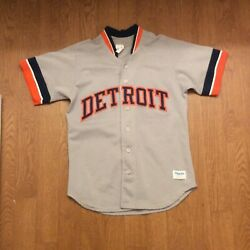 Detroit Tigers Vintage Majestic Authentic Road/away Game Jersey Sz Small