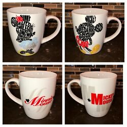 Mickey And Minnie Mouse Set Favorite Words Cup Mug Disney Enesco 14oz His And Hers