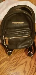 STEVE MADDEN Small Black Bag Logo Backpack Purse FREE SHIPPING $20.00
