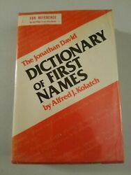 The Jonathan David Dictionary Of First Names: By Alfred J. Kolatch