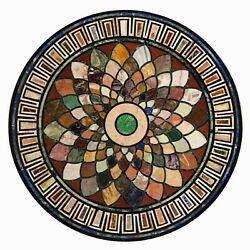 36 Marble Dining Table Top Inlay Rare Semi Round Center Coffee Table Ar0875
