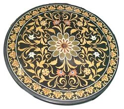 36 Marble Dining Table Top Inlay Rare Semi Round Center Coffee Table Ar0876