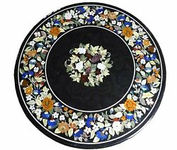 36 Marble Dining Table Top Inlay Rare Semi Round Center Coffee Table Ar0886