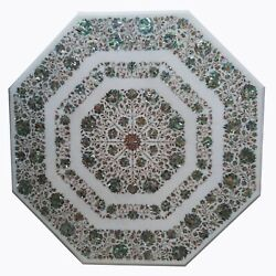 36 Marble Dining Table Top Inlay Rare Semi Antique Center Coffee Table Ar0895