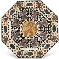 36 Marble Dining Table Top Inlay Rare Semi Antique Center Coffee Table Ar0902