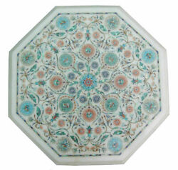 18 Marble Dining Table Top Inlay Rare Semi Antique Center Coffee Table Ar0931