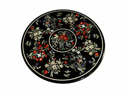 48 Marble Dining Table Top Inlay Rare Semi Round Center Coffee Table Ar0932