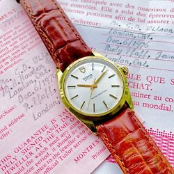 1975 Tudor Gold 34mm 7991/1 Oyster Manual Wind With Original Warranty Papers