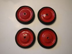 Set Of 5-1/4 Wheels 4 For A Peddle Car, Wagon, Tricycle Or Any Other Toy