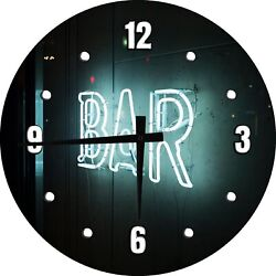 Dive Bar Clock Old Neon Sign For Man Cave Decoration Clock Wall Art 12 Inch