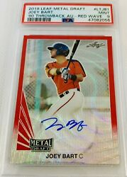 2019 Leaf Metal Draft Joey Bart Rc Auto Red Wave Serial 1/2 Rare Psa 9 Mint