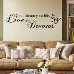 quot;Live Your Dreamsquot; Removable Room Decor Decal Vinyl Quote Word Wall DIY Sticker
