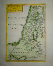 Antique Map Of Palestine And The Holy Lands By Christoph Cellarius 1745