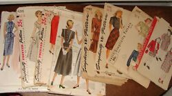 8 Vintage Patterns Blouses, Pencil Skirts, Dresses, Childs Coats 1940's And 1950's