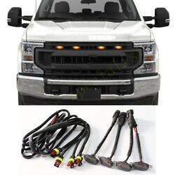 4x For Ford F-250 F-350 F-450 2015-17 Front Grille Led Light Raptor Style Grill