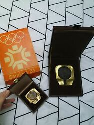 Olympic 1984,participation Large Medal 95x105 And Small Medal 60x66
