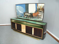 Mirror Cabinet Sideboard From Vittorio Dassi 1950s Italy