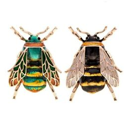 200xfashion Natural Insect Animal Enamel Brooches Bee Alloy Pins Vintage