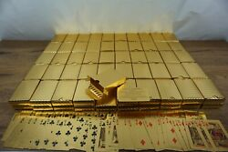 Wholesale Bulk Lot Of 100 Decks Of 24k Gold Plated Waterproof Playing Cards